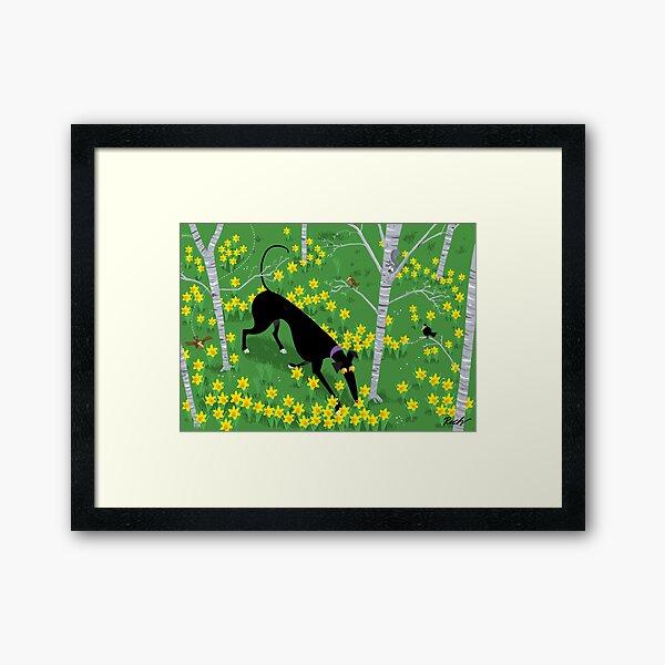 Daffodil Hound Framed Art Print