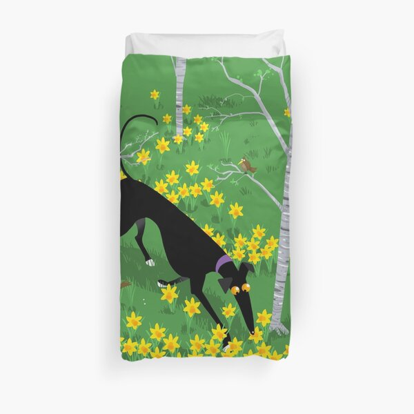 Daffodil Hound Duvet Cover