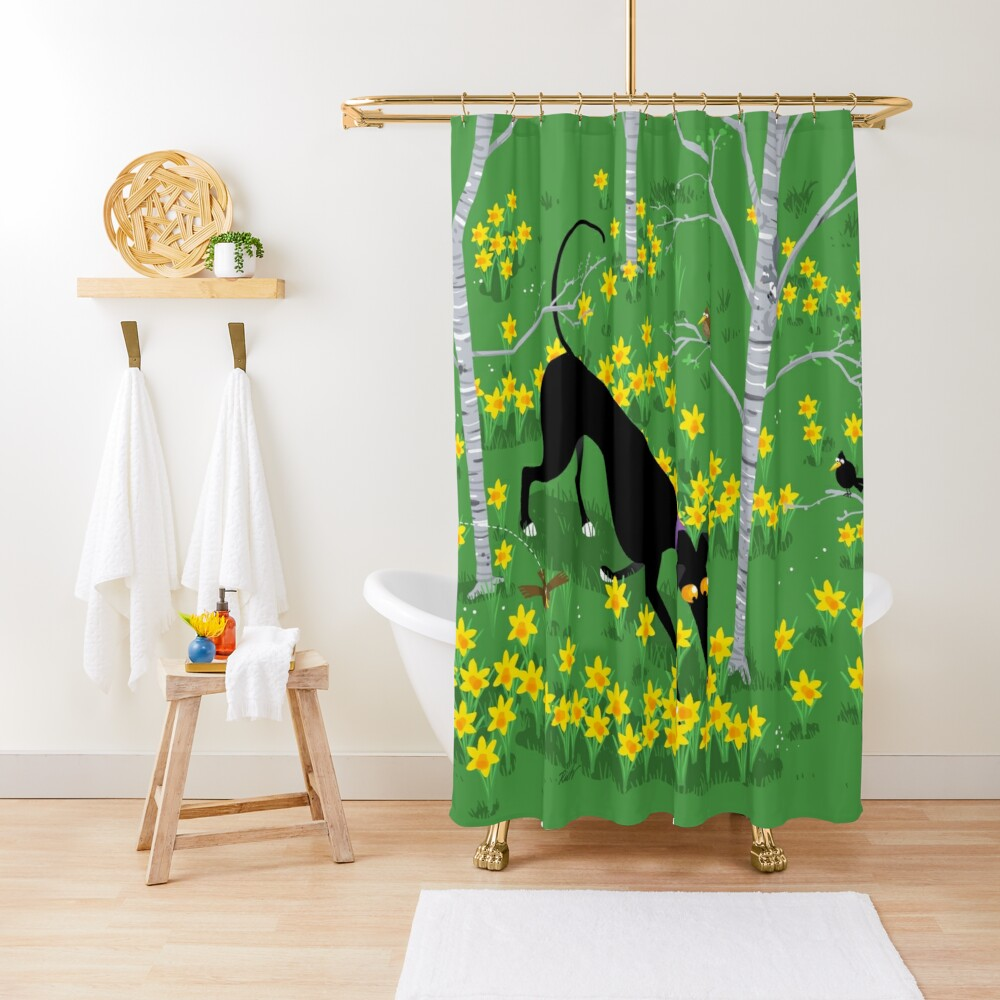 Daffodil Hound Shower Curtain