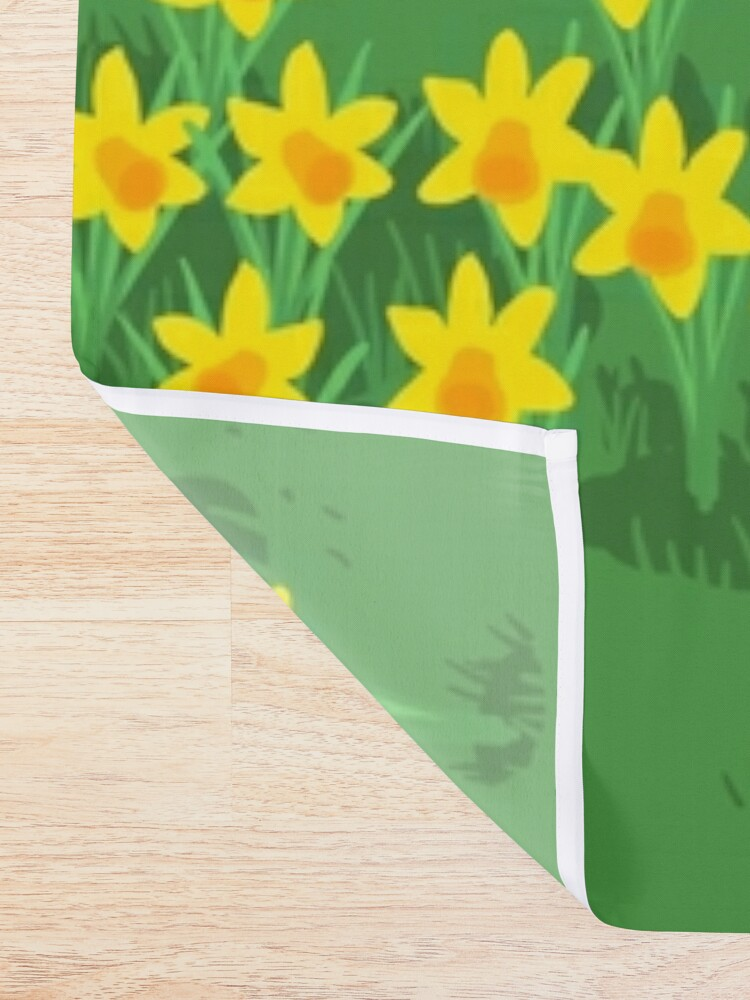 Alternate view of Daffodil Hound Shower Curtain