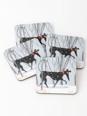 Winter Hound  Coasters