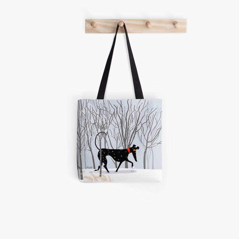 Winter Hound  Tote Bag