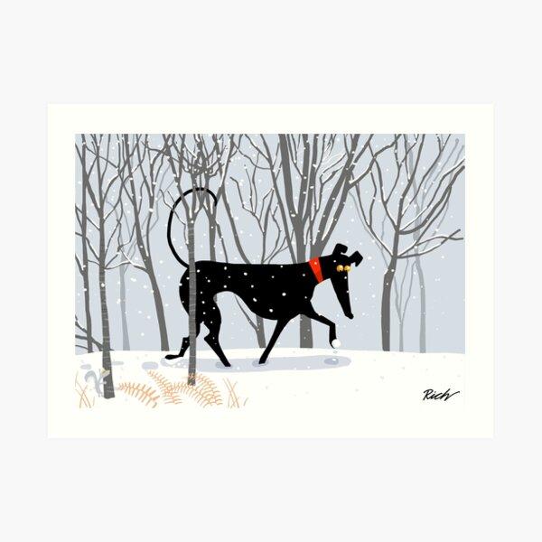 Winter Hound  Art Print