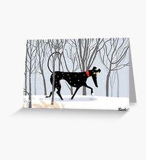 Winterhund Grußkarte