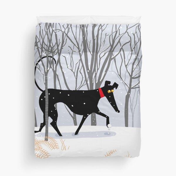 Winter Hound  Duvet Cover