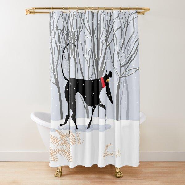 Winter Hound  Shower Curtain