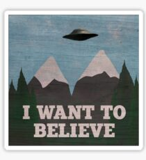 X-Files Twin Peaks mashup Sticker