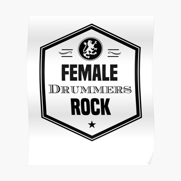 Female Drummers Rock Poster