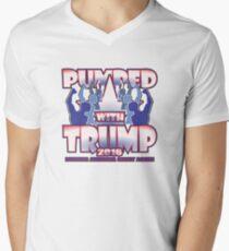 PUMPED WITH TRUMP Men's V-Neck T-Shirt