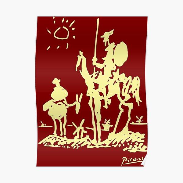 Pablo Picasso Don Quixote 1955 Artwork Shirt, Reproduction Poster