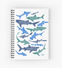 Sharks! Spiral Notebook