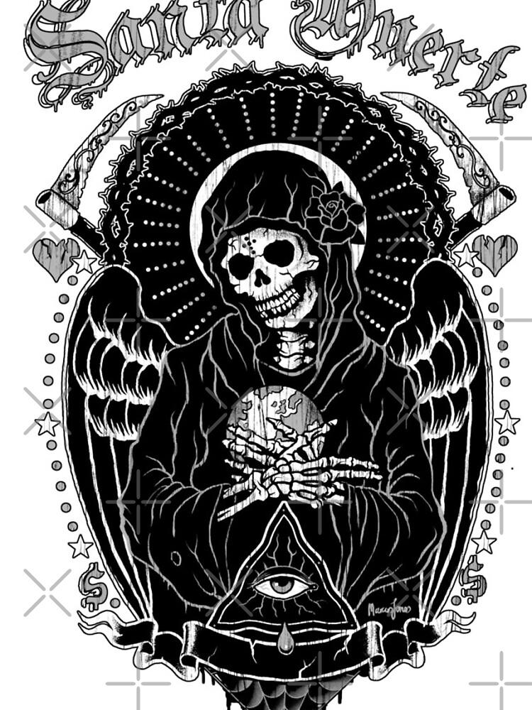 Holy Death Santa Muerte T-shirt Print by marcusjones