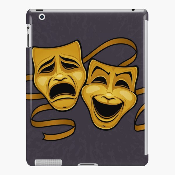 Gold Comedy And Tragedy Theater Masks iPad Snap Case