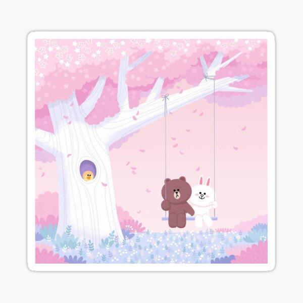Süßer Brown und Cony Swing Sticker