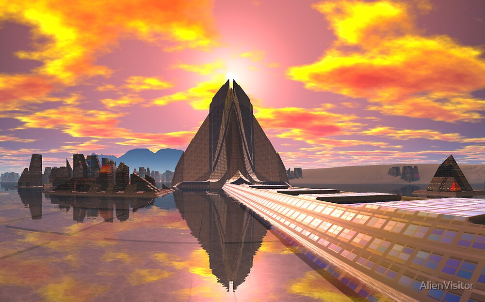 Pyramid at Khartoosh by AlienVisitor