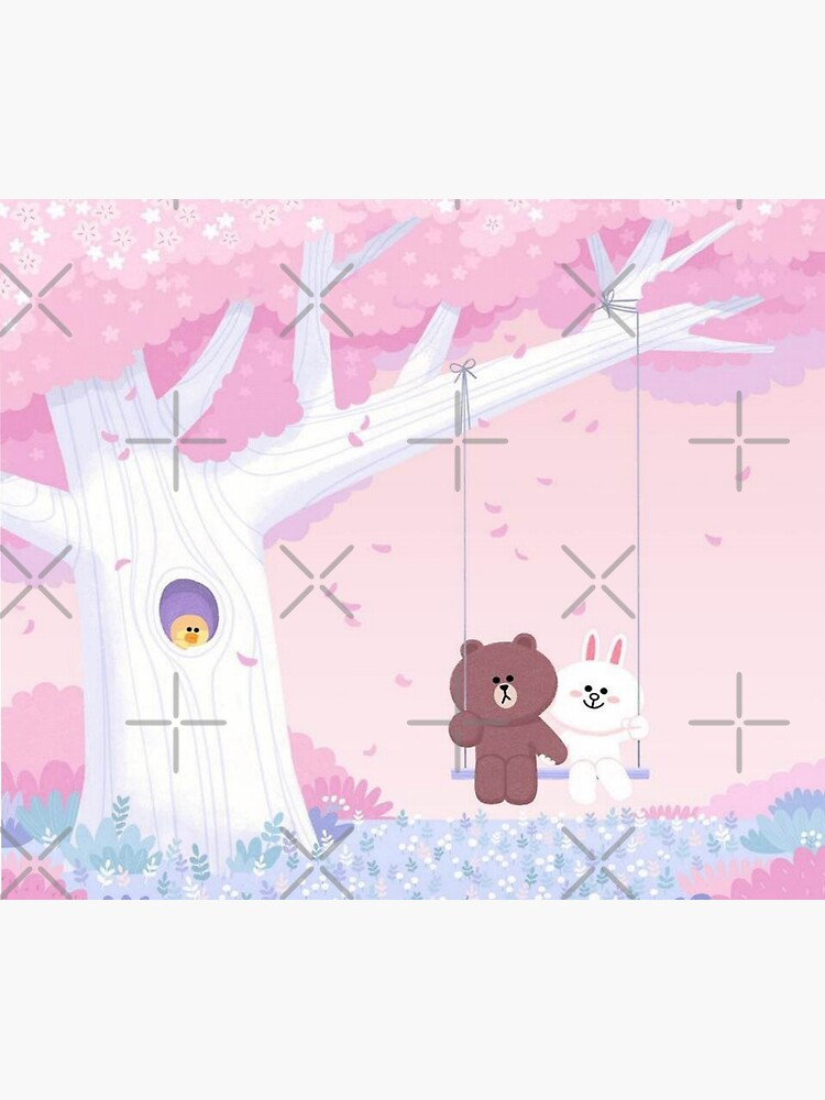 Cute Brown and Cony swing by tommytbird