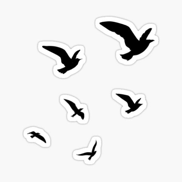 Bird cluster Sticker