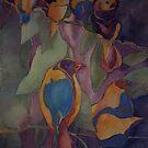 Love birds, Fauve style by Ellen Keagy