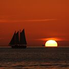 Sunset Schooner in Key West, FL by Susanne Van Hulst