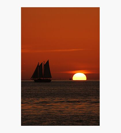 Sunset Schooner in Key West, FL Photographic Print
