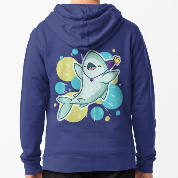 Party Shark Zipped Hoodie