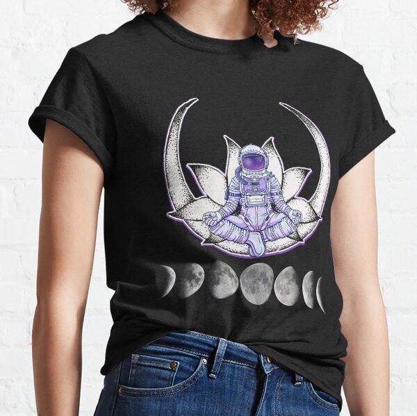 Meditating Astronaut Moon Cycle Classic T-Shirt
