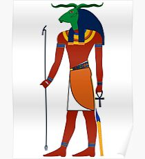 Khnum | Egyptian Gods, Goddesses, and Deities Poster
