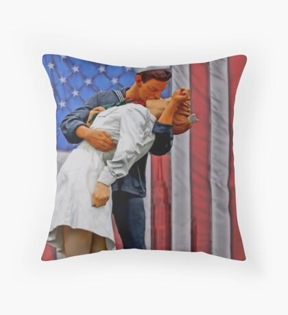The VJ day Kiss Throw Pillow