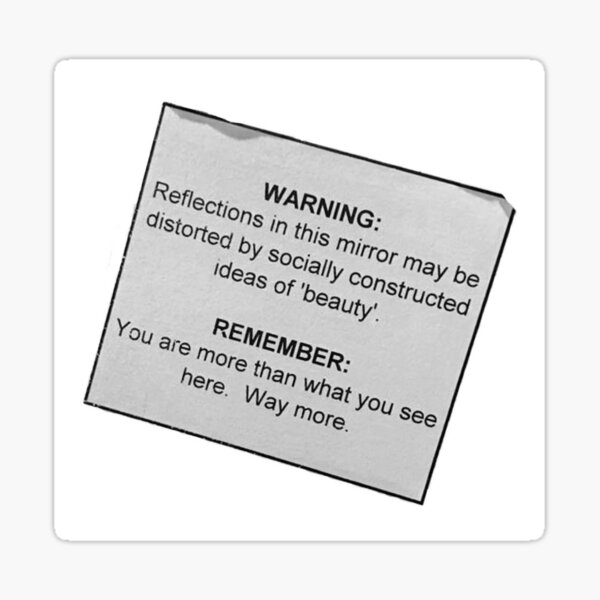 Warning Self Image Sticker