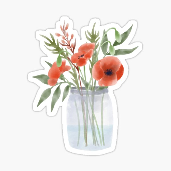 Bouquet with poppies Sticker
