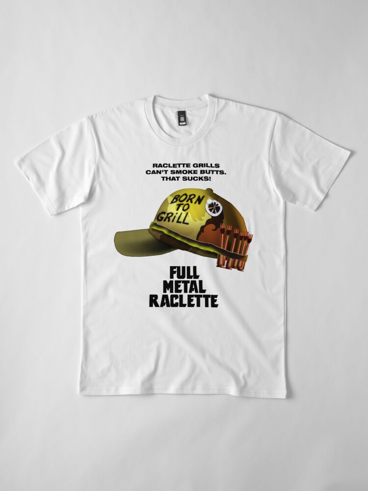 Alternate view of Full Metal Raclette Grill T-Shirt For Dad Premium T-Shirt