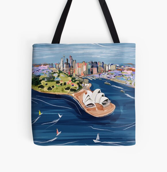 Sydney Harbour ft The Opera House All Over Print Tote Bag