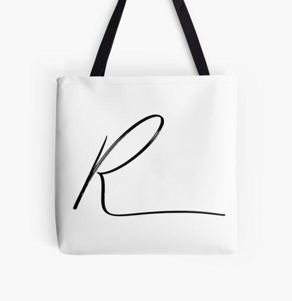 R Monogram (Hand) 2 All Over Print Tote Bag