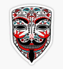 V for Vendetta Calavera Sticker