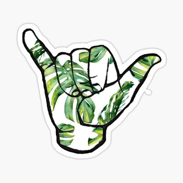 VSCO Palm Leaf Hang Loose  Sticker