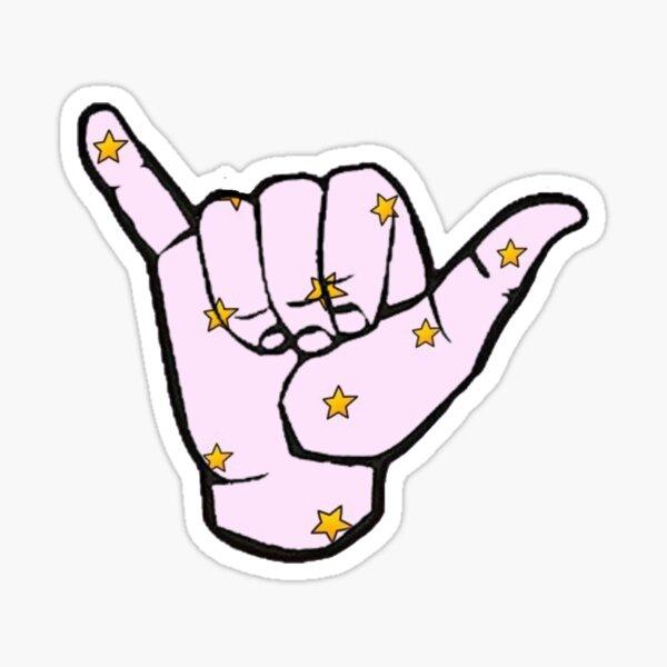 VSCO Pastel Star Hang Loose  Sticker
