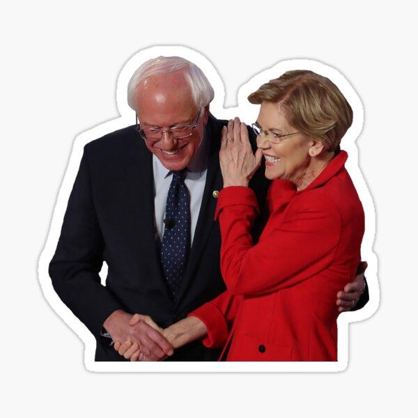 Bernie Sanders and Elizabeth Warren Sticker