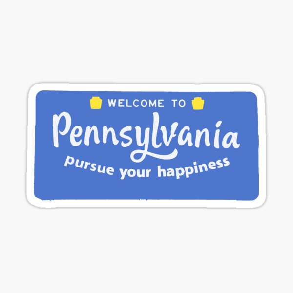 welcome to Pennsylvania Sticker