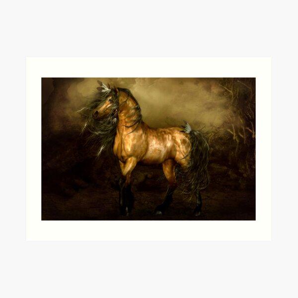Shikoba - Choctaw Native American Horse Art Print
