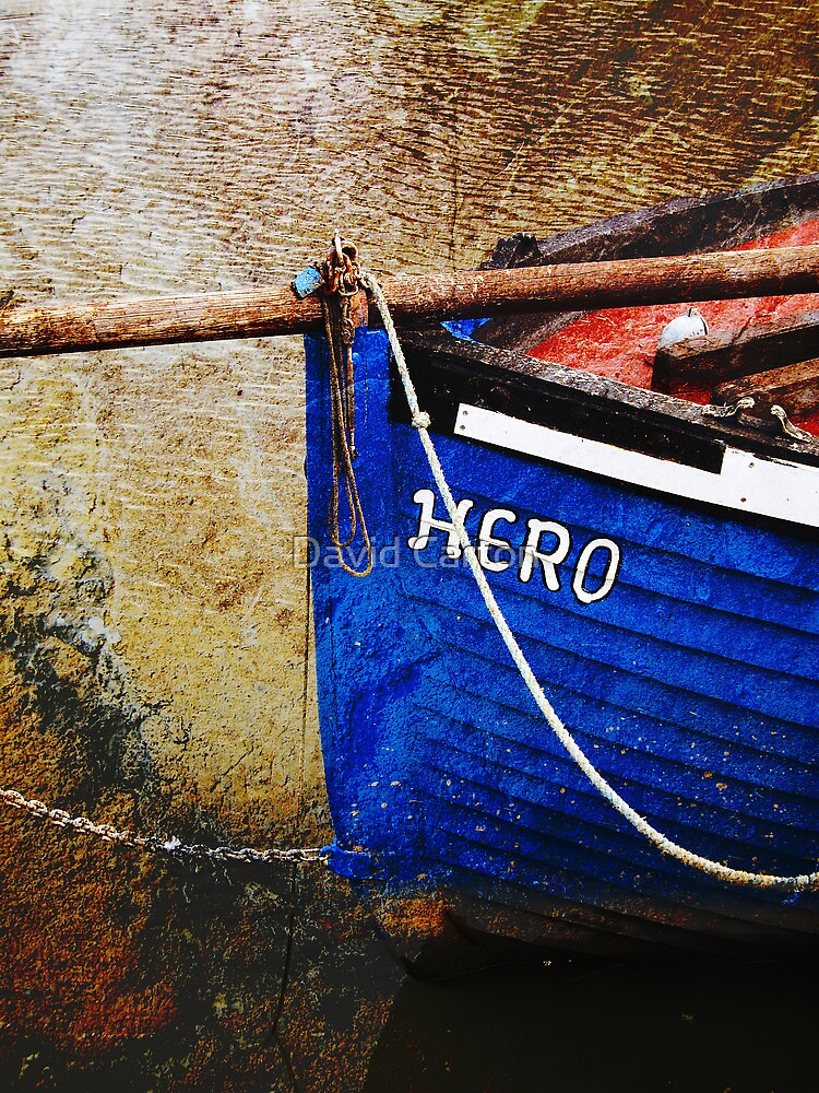 Boat in Sandwich harbour, Kent, UK by David Carton