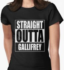 Straight OUTTA Gallifrey - Dr. Who Womens Fitted T-Shirt