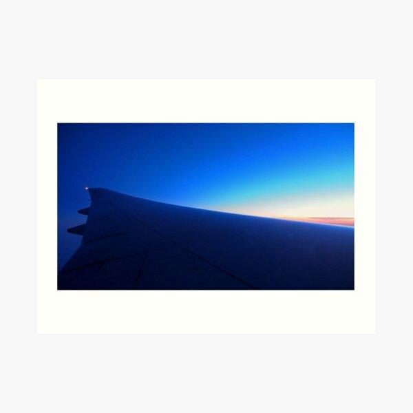 Wingscape: first light Art Print