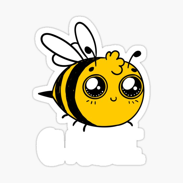 Chubby Bee Cartoon Kawaii Sticker