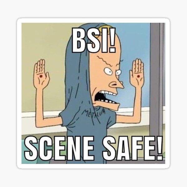 bsi scene safe meme Sticker