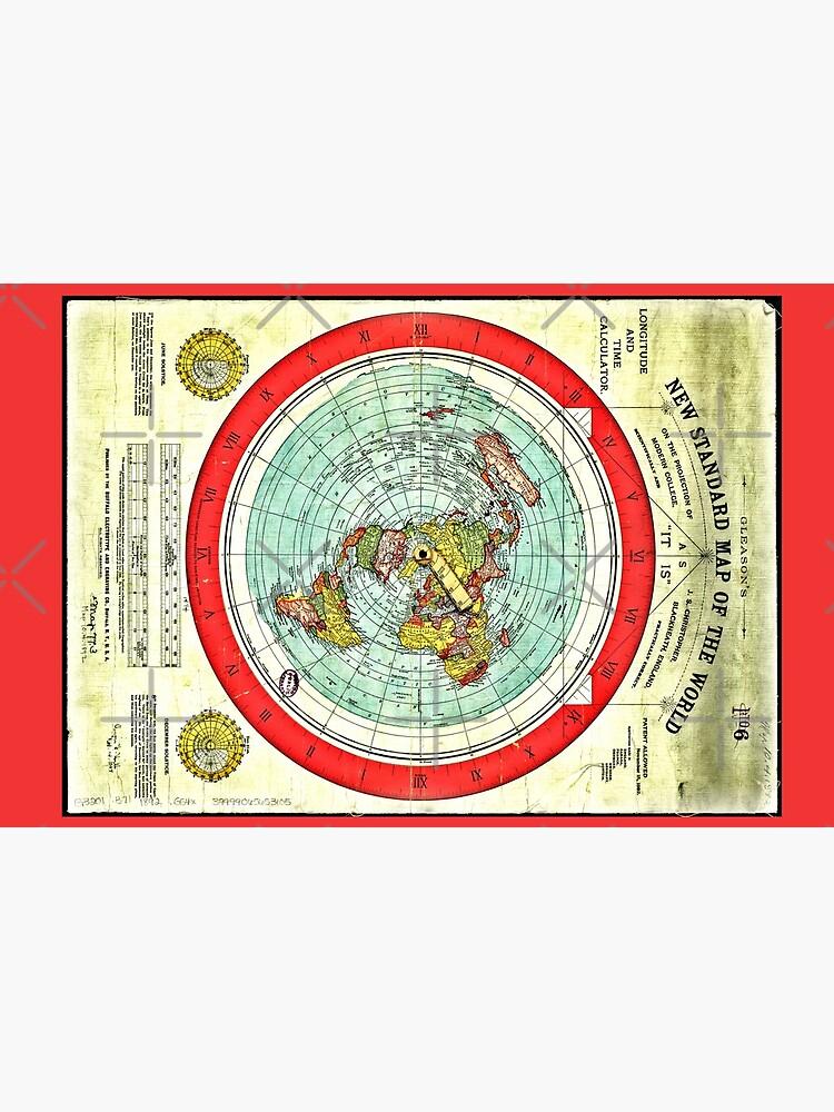 Gleason 1892 Flat Earth Map Research Flat Earth Laptop Skin By