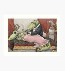 Alligators in Love Art Print