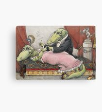 Alligators in Love Canvas Print