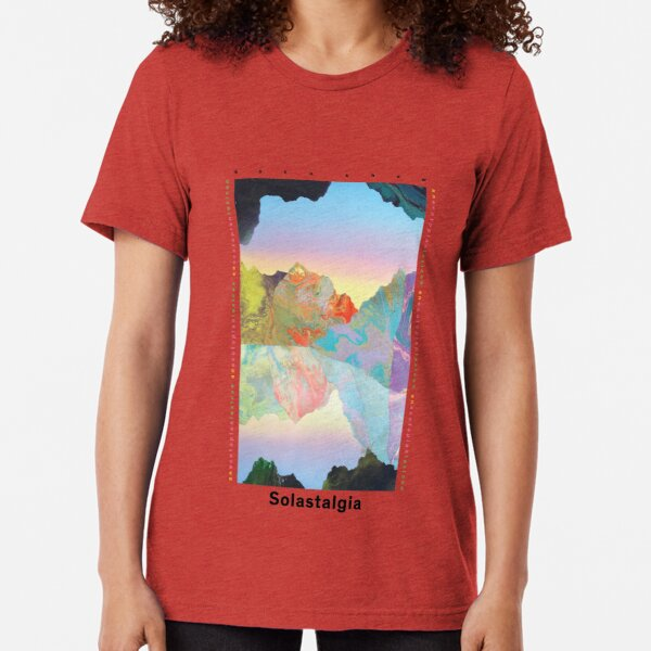Solastalgia by Kate Shaw (Black Text) Tri-blend T-Shirt