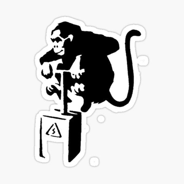 Monkey Detonate Stencil Sticker