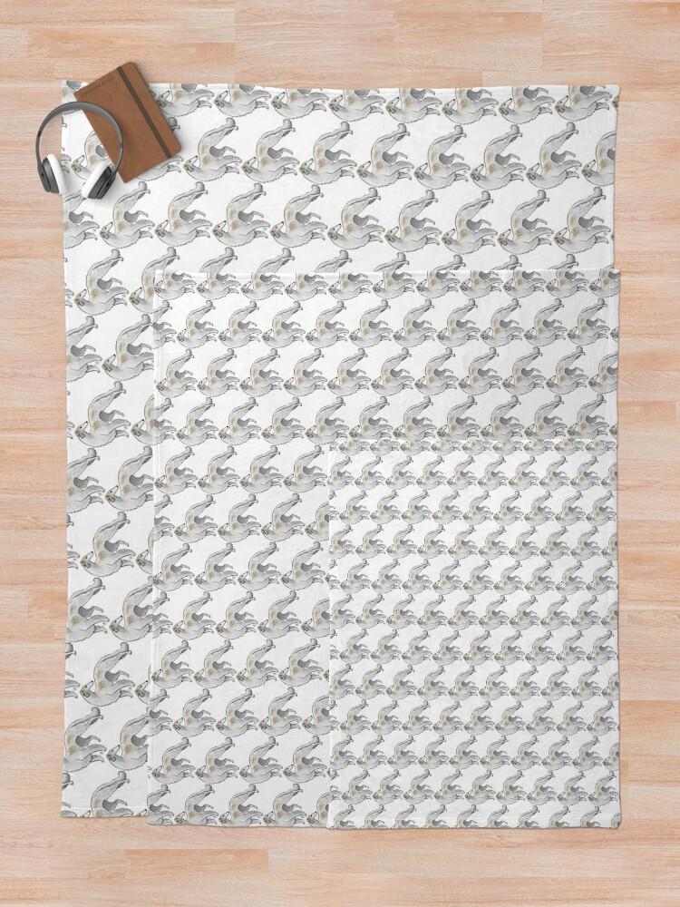 Alternate view of Borzoi Throw Blanket